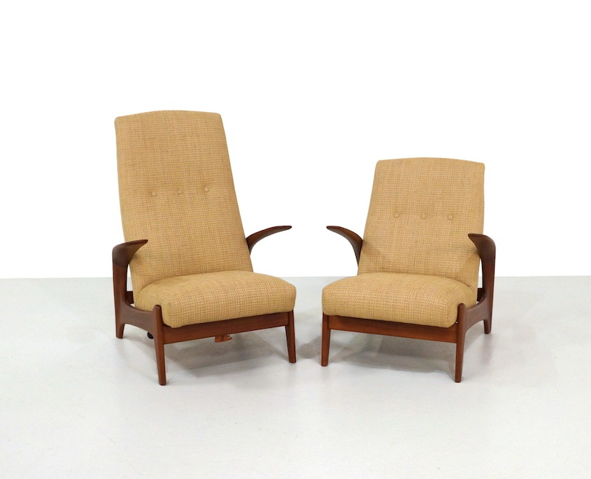 Pair Vintage Gimson and Slater Rock'n Rest and Ladies chairs