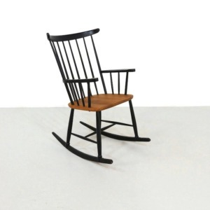Vintage rocking chair in the style of IImari Tapiovaara