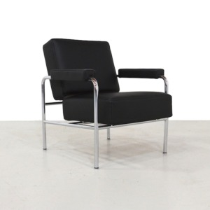 LC13 Wagon Fumoir Arm Chair by Le Corbusier for Cassina