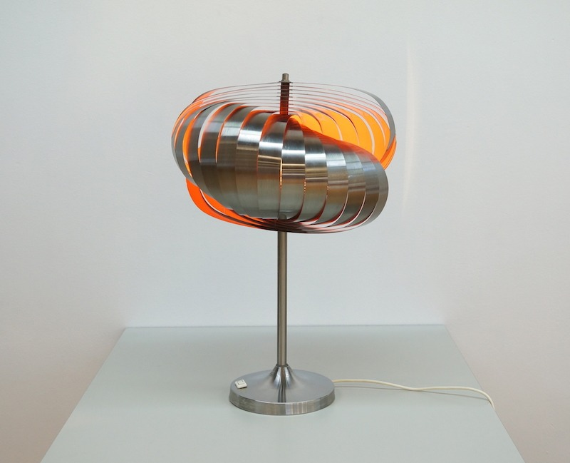 Spiral Table Lamp by Henri Mathieu for Lyfa
