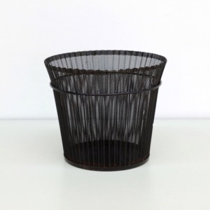 Folded Metal Wastepaper basket by Mathieu Mategot