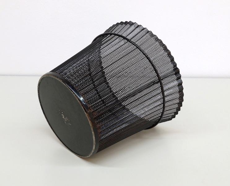 Folded Metal Wastepaper basket by Mathieu Mategot