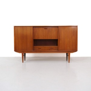 Vintage Teak Highboard by de Kroon