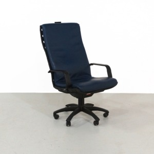 Blue Antropovarius Office Chair by Ferdinand A. Porsche for Poltrona Frau