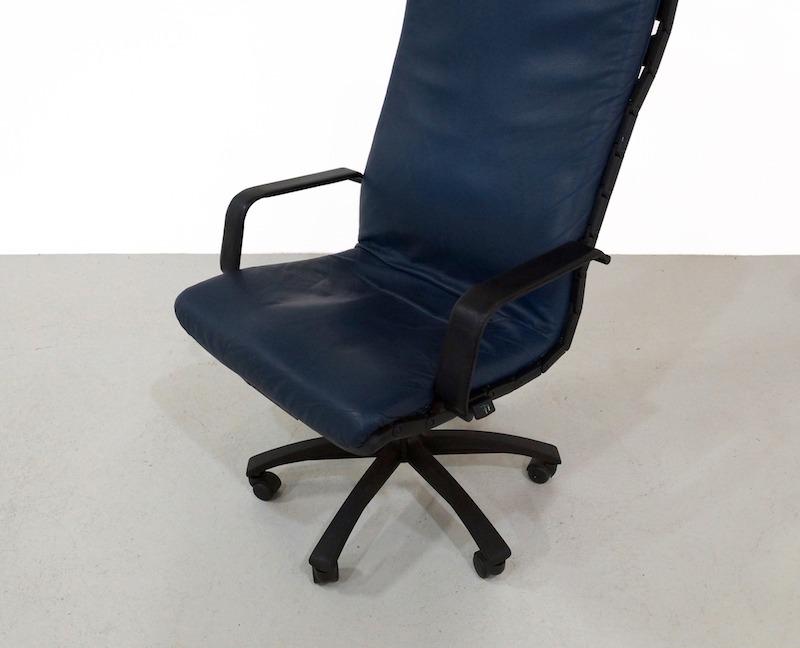 Blue Antropovarius Office Chair by Ferdinand A. Porsche for Poltrona Frau