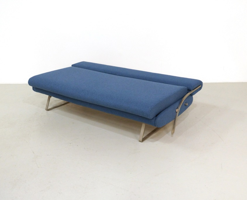 Reupholstered Mid-Century Daybed Sofa