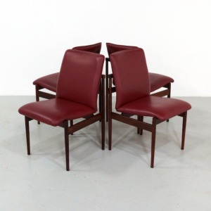 Vintage Dining Chairs in Rosewood, set of 4