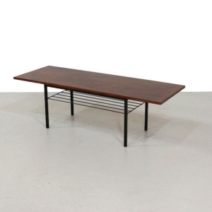 Rectangular Mid-Century Coffee Table on a Metal Base