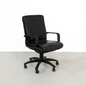 Black Antropovarius Office Chair by Ferdinand A. Porsche for Poltrona Frau