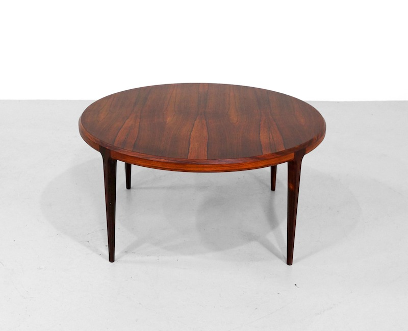 Round Rosewood Coffee Table by Johannes Andersen for Silkeborg