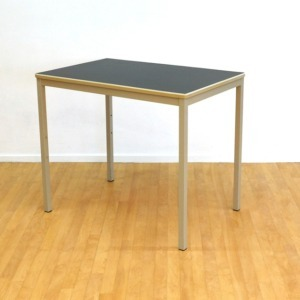Small Vintage Industrial Table with a Linoleum Top