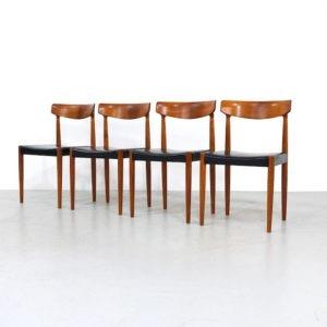 Vintage Teak Dining Chairs Design Knud Faerch for Bovenkamp, set of 4