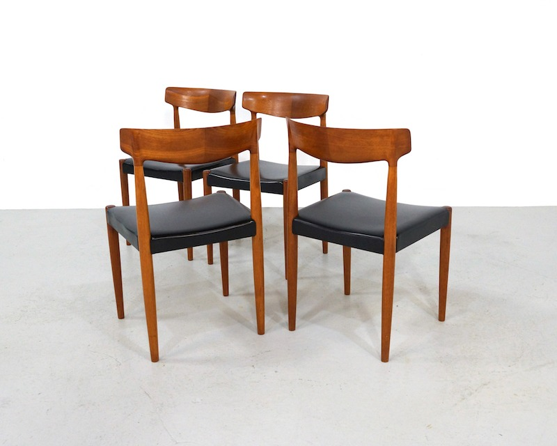 Vintage Teak Dining Chairs Design Knud Faerch for Bovenkamp, set of 4