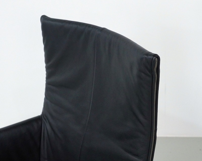 Black Leather Montis Chaplin Chair by Gerard van den Berg