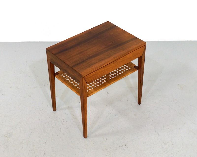 Rosewood Bedside Table by Severin Hansen for Haslev