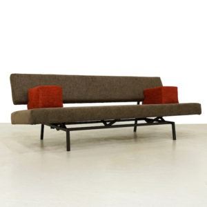 1960s Reupholstered Martin Visser BR03 Daybed / Sleeping Sofa for Spectrum
