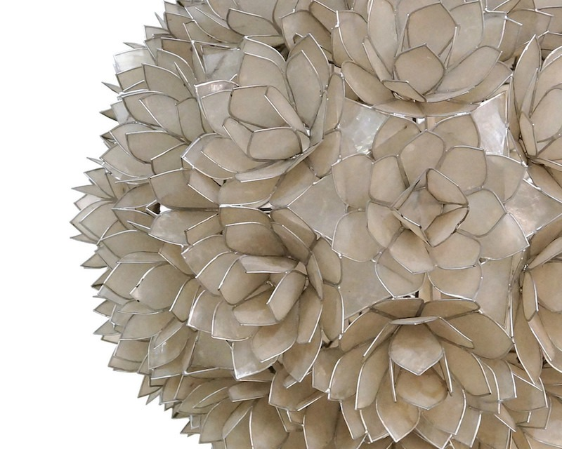 Capiz shell flower floor lamp from Rausch