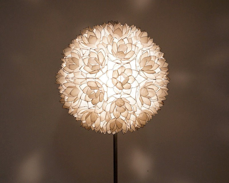 Capiz of Mother of Pearl floor lamp from Rausch