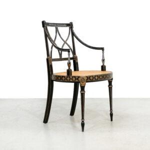 1950s Black Italian Chiavari armchair