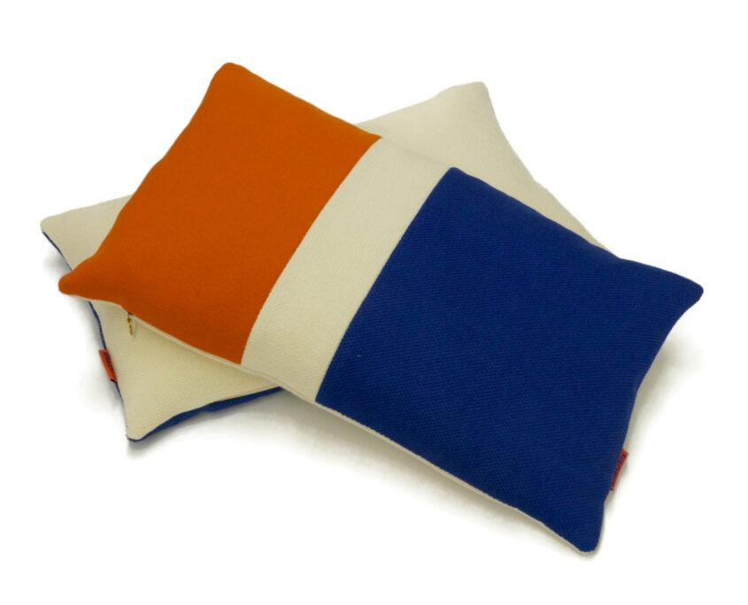 Modern colorblock pillow by EllaOsix