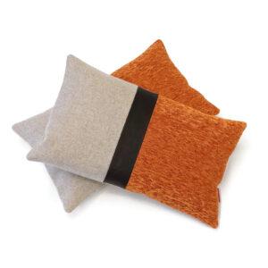 Modern lumbar colorblock pillow cover by EllaOsix