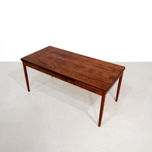 1960s Vintage Danish Extendable Rosewood Dining Table